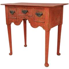 English George II Period, Mid-18th Century Painted Lowboy, circa 1740