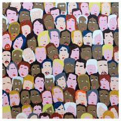 '101 Followers' Portrait Painting by Alan Fears Folk Art Pop Art