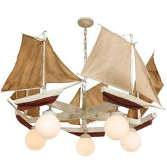 An American 5-Light Sailboat form Chandelier