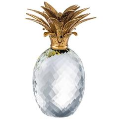 Ananas Deco in Clear Glass and Brass Finish