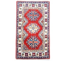 Red Oriental Rug Hand Made Carpet, Small Rugs for Sale