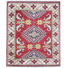 Oriental Rugs Red Afghan Kazak Rugs, Hand Made Carpet for Sale