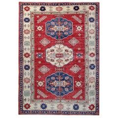 Oriental Rug, Persian Rugs Red Kazak Carpet, Kazak Rugs