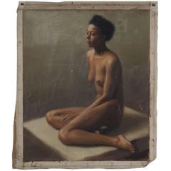 Roy Gates Perham, 1940s Unframed Portrait of an African American Nude