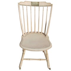Early 19th Century N.E. Original Paint Decorated Windsor Chair