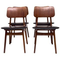 Set of Four Ib Kofod-Larsen Dining Chairs