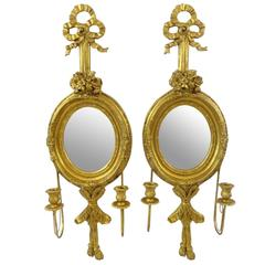 Pair of Gilt Two-Light Wall Sconces