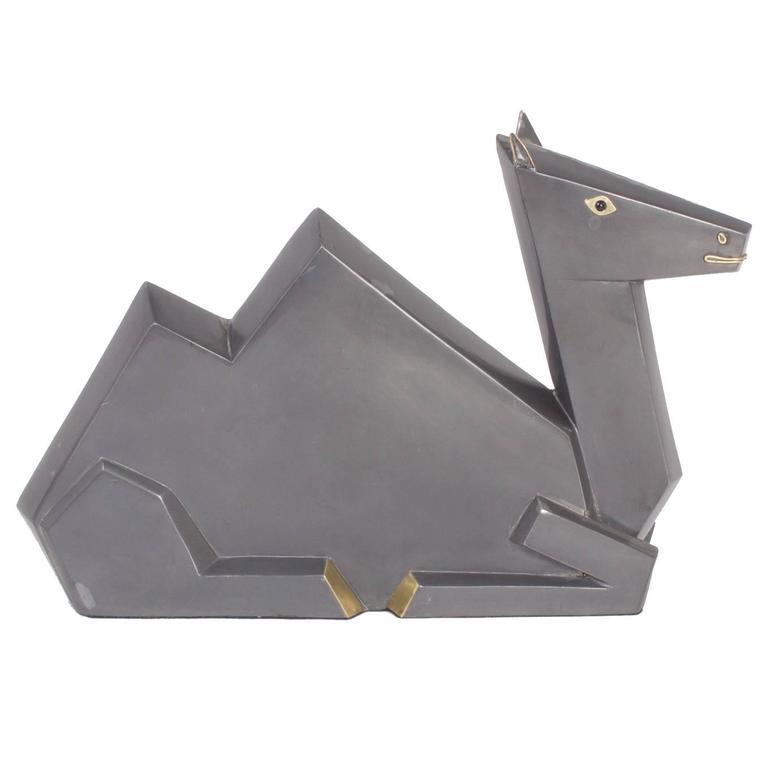 Cubist Style Camel Sculpture