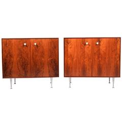 Two George Nelson Thin Edge Rosewood Cabinets