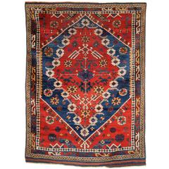Antique Turkish Bergama Rug of Classic Design with Superb Color, circa 1880