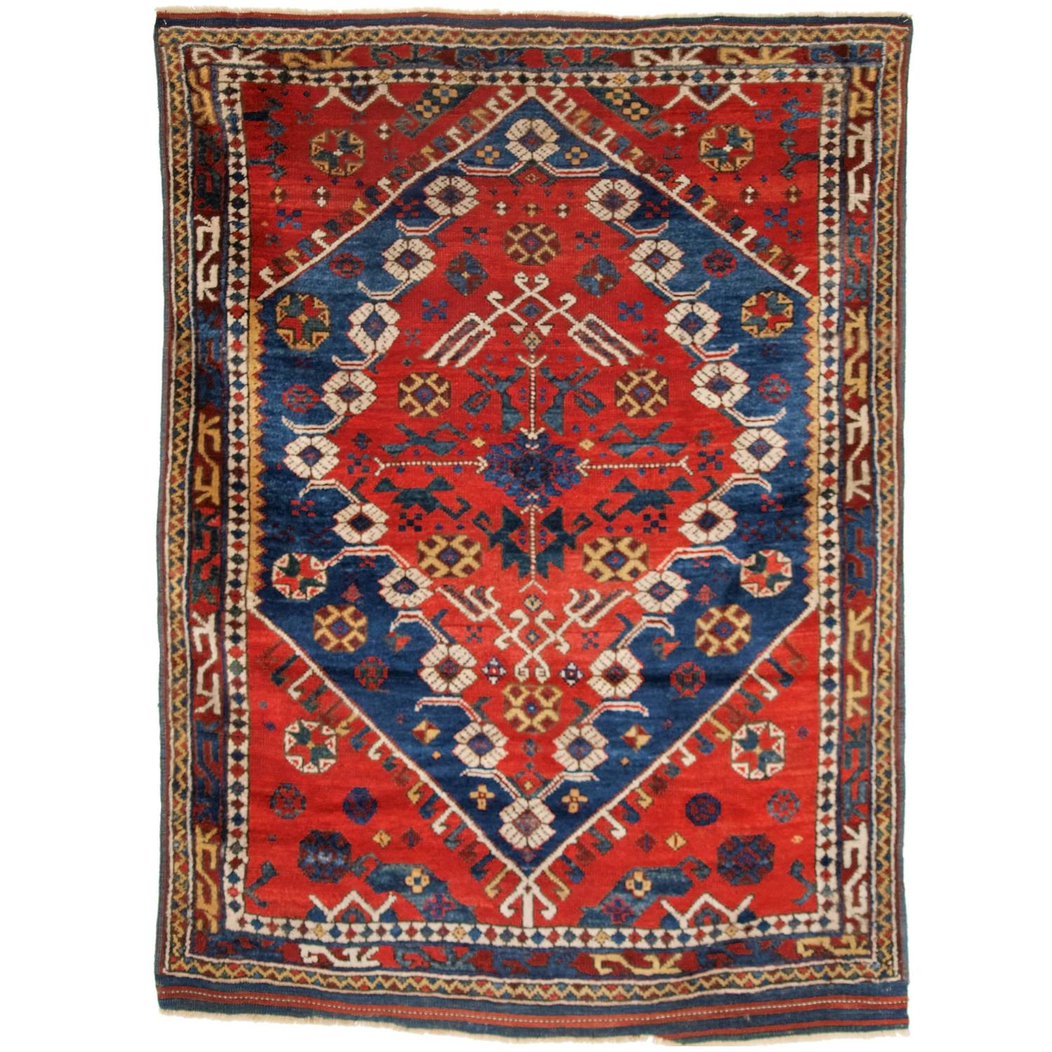 Antique Turkish Bergama Rug Of Classic Design With Superb Color Circa 1880 For Sale At 1stdibs