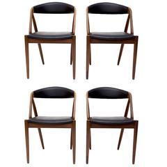 Set of Four Kai Kristiansen Chairs, Model 31
