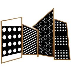 Black Screen Room Divider