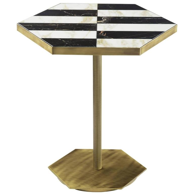 Ted Black and White Coffee Table For Sale