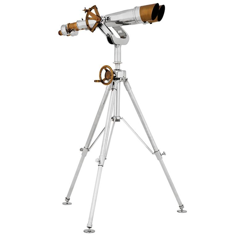 Seals Binocular in Nickel and Brass Finish High Quality