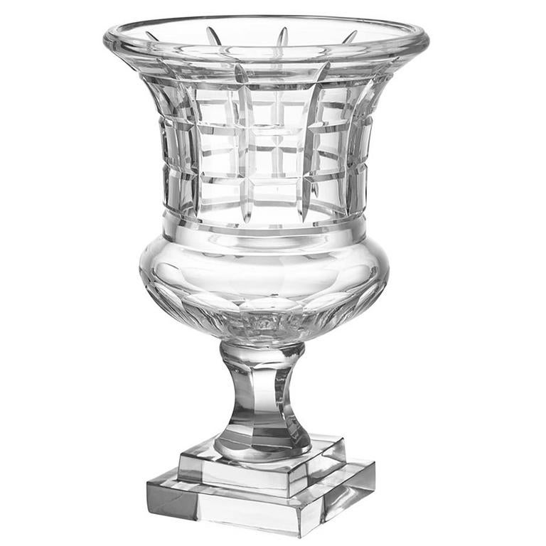 Clear Glass Vase Or Urn In Handblown Glass For Sale At 1stdibs