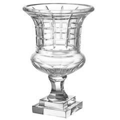 Clear Glass Vase or Urn in Handblown Glass