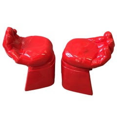 Set of Resin Cast Hand Chairs, Sold Individually