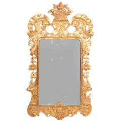 18th Century Irish Carved Giltwood Mirror