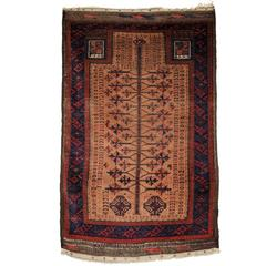 Antique Baluch Camel Ground Prayer Rug with 'Tree of Life' Design, circa 1900