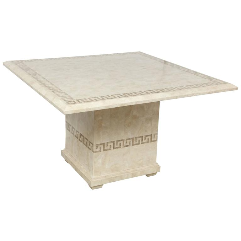 Square Marble Dining Or Conference Table For Sale At Stdibs - Marble conference table for sale