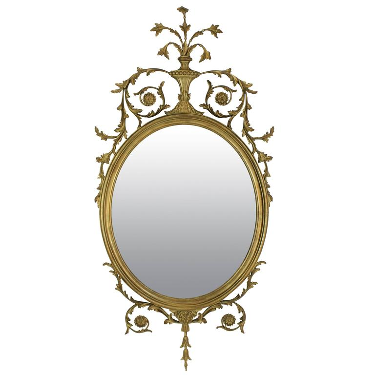 Adam style giltwood mirror at 1stdibs for Adam style mirror