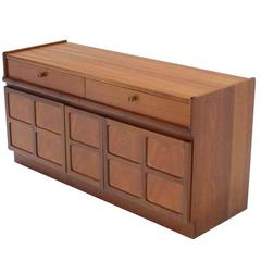small danish modern teak credenza with small file cabinet - Small File Cabinet