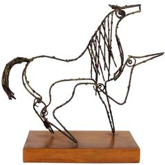 Unique Horse Sculpture by Marcello Fantoni