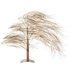Curtis Jere Wall Sculpture of Tree with Billowing Branches