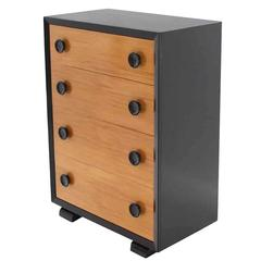 Two-Tone Mid-Century Modern Four-Drawer Dresser