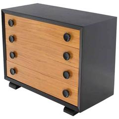 Art Deco Two Tone Four-Drawer Dresser