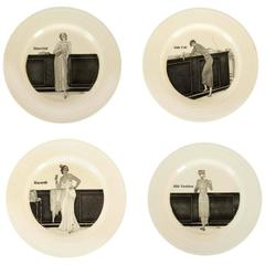 Four Crown Ducal Porcelain Cocktail Plates