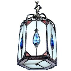 Decorative Jeweled Foyer Lamp
