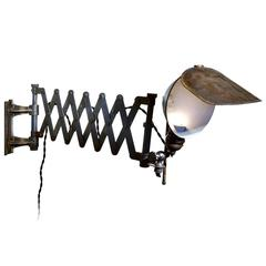 Jewelers Articulated Hooded Scissor Wall Lamp
