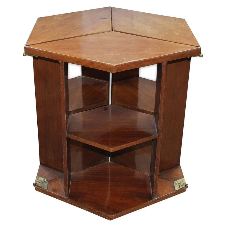 Eugene Printz, Walnut Folding Bookcase Table, 1930 For Sale