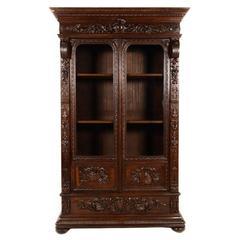 Antique French Renaissance Revival Bookcase Circa 1870