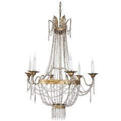 Late 19th Century Crystal Chandelier from Milan