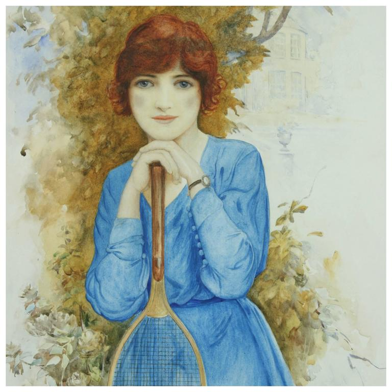Young Tennis Player Painting