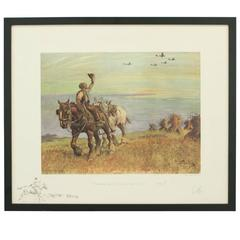 Snaffles WW II Military Print