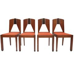 Set of Four Amsterdam School Chairs