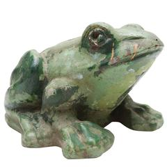 Stone Frog Sculpture