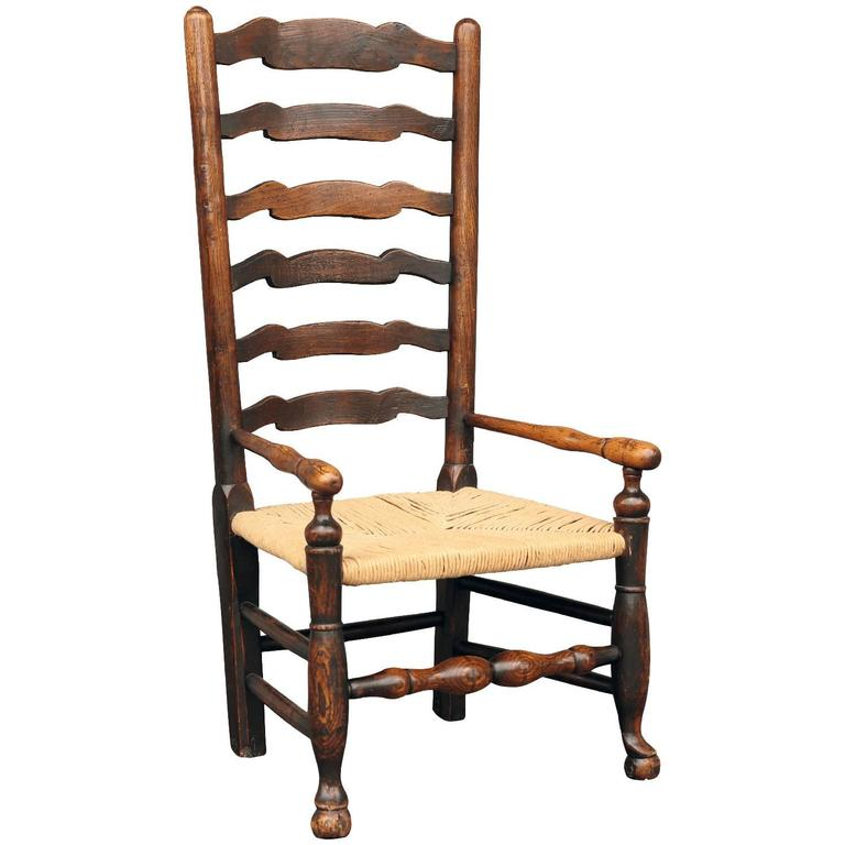 Georgian Ladder Back Country Armchair For Sale