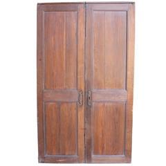 Pair of Antique French Oak Cupboard Doors