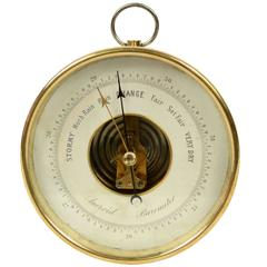 Aneroid Barometer English Manufacture of the Early 1900