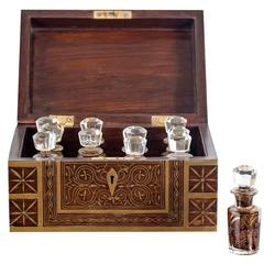 Antique Anglo-Indian Rosewood Perfume Box
