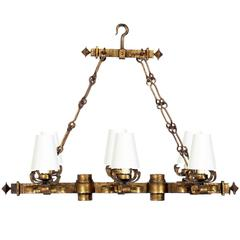 Spanish Gilt Iron Chandelier