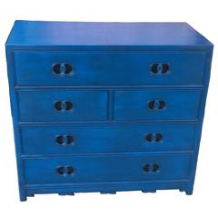 Michael Taylor for Baker Far East Collection Blue Chest of Drawers