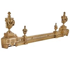 Louis XVI Style Extendable Ormolu Fireplace Fender