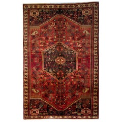 Tribal Persian Rugs, Vintage Rugs from Shiraz with Animal Motif, circa 1900