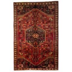 Animal Motif Persian Rugs, Carpet from Shiraz